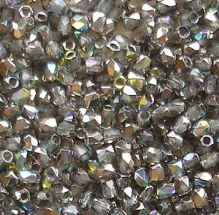True 2mm Fire Polished, Crystal Graphite Rainbow - 50